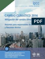 Cambio Climatico Mitigacion IPCC
