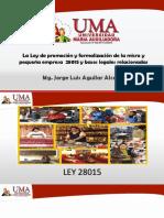 Clase 5La Ley de Promoción y Formalización de La Micro y Pequeña Empresa