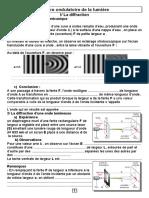 306801023 Cours Physique Nature Ondulatoire de La Lumiere Sciences2016 Eleve1