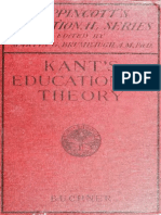 The Educational Theory of Immanuel Kant