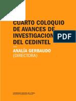 IV Coloquio de avances de investigaciones del Cedintel (2016)