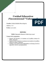 Unidad Educativa Fiscomisional HISTORIA.