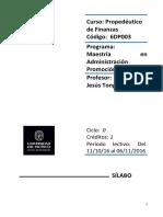 Sílabo Propedéutico Virtual de Finanzas VF 11-10-16 MBA XXV
