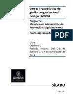 Sílabo Propedéutico de Gestion Organizacional VF 25-10-16