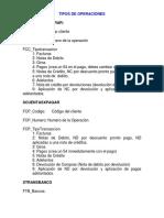 Tipos de Operaciones en a2