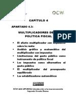 Multiplicadores de La Politica Fiscal