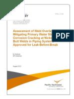 Assessment of Weld Overlays