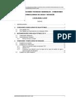 Especificaciones Tecnicas Generales - Conexiones Domiciliarias de Agua y Desagüe
