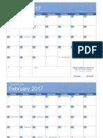 2017 Calendar Bold