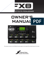 FX8 Owners Manual