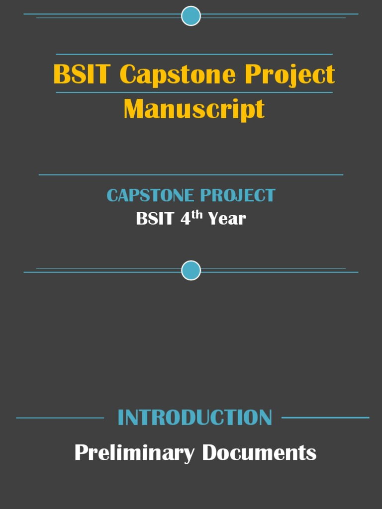 ched capstone project format