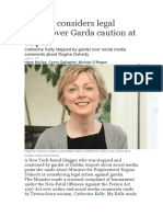 Regina O Doherty FG Gag Law Low Life Scum Blogger Considers Legal Action Over Garda Caution at Airport