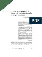 Aportes de Kohut y Winnicot a la comprensión de la patología temprana APDEBA.pdf