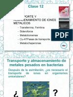 Transporte y almacenamiento de iones metalicos