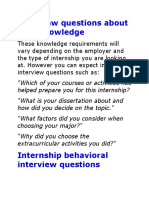 Interview Questions About Your Knowledge