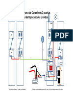 Diagrama de Conexiones de Barras Optocontrol Voltios Puertas