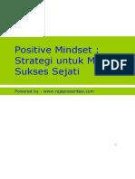 Bonus - Positive Mindset ~ Strategi Meraih Sukses Sejati