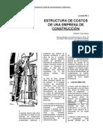 Estructura de Costos de Empresa Constructora