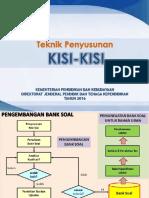 1. Teknik Penyusunan Kisi-kisi Soal Revisi