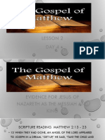 Gospel of Matthew (Lesson 2)