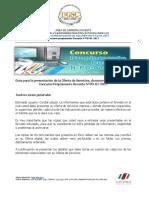 Guía para la presentación de Oferta y documentos Concurso N°PD-01-2017