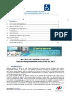 INSTRUCTIVO DIGITAL CONCURSO DOCENTE N° PD-01-2017