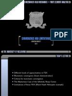FEA convergence