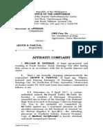 COMPLAINT(to PB Pascual-Buenavista)