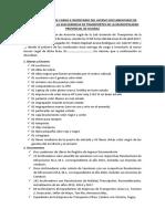 Acta de Entrega de Cargo e Inventario Del Acervo Documentario de Bienes y Enseres de La Sub Gerencia de Transportes de La Municipalidad Provincial de Huaraz