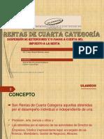 CUARTA CATEGORIA derecho tributario peru