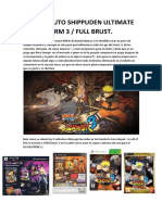 Guía Naruto Shippuden Ultimate Ninja Storm 3