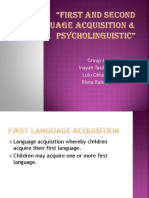 First and Second Language Acquisition & Psycholinguistic(1)