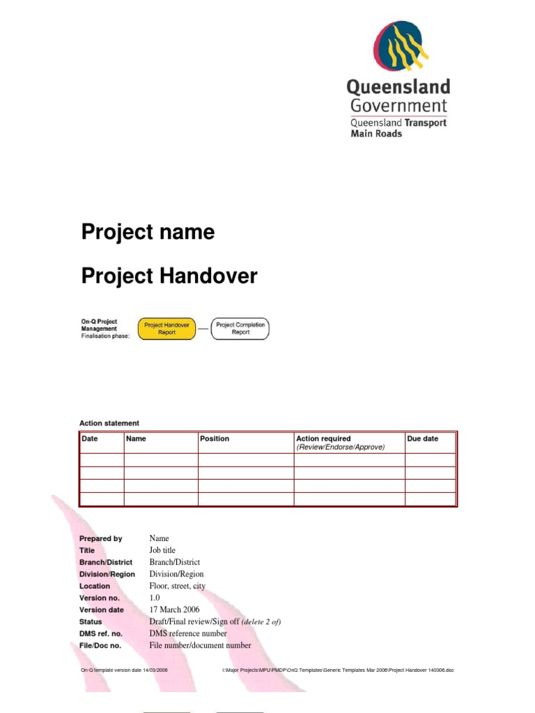 Project Handover Document   Stakeholder (Corporate)   Double Click