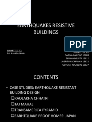 Earthquake resistant architecture | Earthquakes