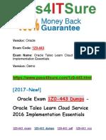 New Pass4itsure 1Z0-443 Dumps PDF - Oracle Taleo Learn Cloud Service 2016 Implementation Essentials