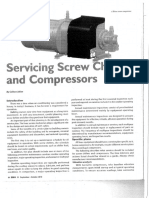 Servicing Screw chillers and Compressors