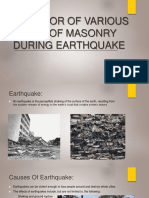 Behavior of Various Types of Masonry During Earthquake