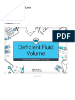 Deficient Fluid Volume – Nursing Diagnosis & Care Plan -