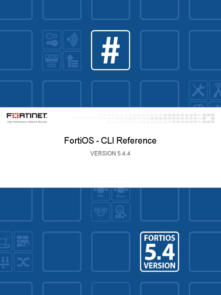 Fortigate Cli Ref 54 | Command Line Interface | Booting