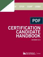 Certification Candidate Handbook - December 2013