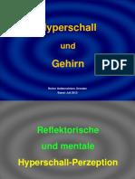 Harmonizer Hshm 120 Hyperschall Und Gehirn Reflektorische Und Mentale Hyperschall Perzeption
