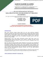 Analisis Dan Pengukuran Getaran Mekanik(Analysis and Measuring of Vibration Machinery)