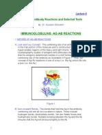 Lec. 6 Antigen Antibody Reactions (Dr. Hossam Ghoneim)
