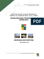 MEMORIA DESCRIPTIVA PDU 2006-2011, II MODIFICACION (2).doc
