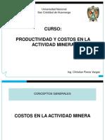 Curso Productividad Costos en Mineria