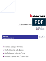 Catalyst for QANTAS by Zia Qureshi
