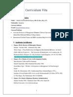 CV on July 2017