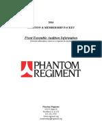 Phantom Regiment Audition Packet FrontEnsemble
