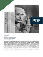 Il Mondo Come Io Lo Vedo Albert Einstein