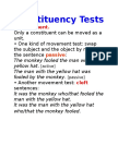 Constituency Test